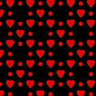 Red hearts and dots pattern by Vicki Field