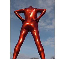 Candy Apple Red Zentai Man 6 Photographic Print
