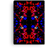 Red Blue Tribal Canvas Print
