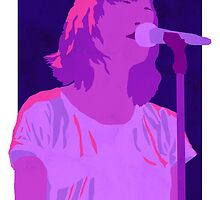 CHVRCHES Art - Neon Lauren Mayberry by charliehsmith