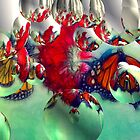 Butterfly Digital Abstract Art by George  Link