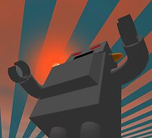 Retro Style Robot 4 by mdkgraphics
