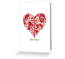 Hockey Heart (Red) Greeting Card