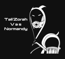 Tali'Zorah Vas Normandy by icedtees