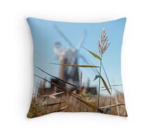 Wheat and Windmill Throw Pillow