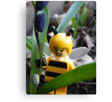 Bumblebee Lady in the Flowers Canvas Print