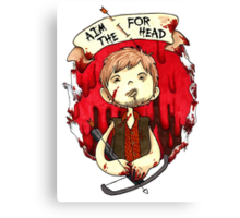 Aim for the Head Canvas Print