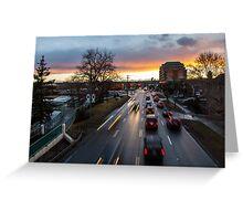 Memorial Drive Sunset Greeting Card