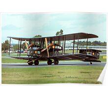 Vickers Vimy IV replica G-AEOU NX71MY Poster