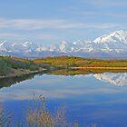 Alaskan Range over Reflection Lake by Graeme  Hyde