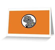 Power armor spoderman Greeting Card