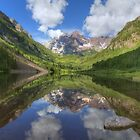 Maroon Bells Images - Panorama of the Bells on a Summer Morning by RobGreebonPhoto