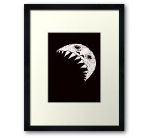 Tooth crescent moon Framed Print