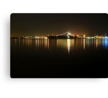 San Diego Navy Harbor Night Canvas Print
