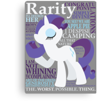 The Many Words of Rarity Canvas Print