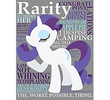 The Many Words of Rarity Photographic Print