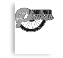 Roadrunner Pedicab, Grunge Gray Canvas Print