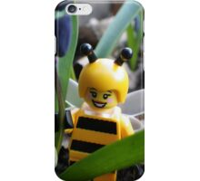 Bumblebee Lady in the Flowers iPhone Case/Skin
