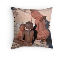 Himba Mother and Children Throw Pillow