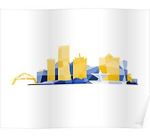 Polygonal Milwaukee | Brewers  Poster