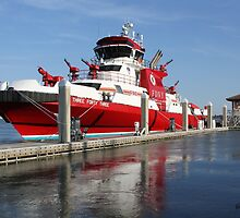 343 ~ FDNY's New Fireboat on Route to New York  by SummerJade