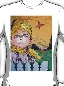 'Butterflies and daydreams' a painting by Damian Smith T-Shirt