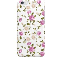 Seamless texture of pastel roses for textiles iPhone Case/Skin