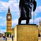 Never Surrender - Winston Churchill & Big Ben by Mark Tisdale
