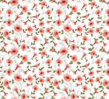 Bindweed , floral background, seamless pattern by Kotkoa