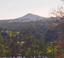 Mt Piper in winter, Broadford Vic Australia Sticker