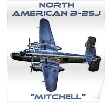 """North American B-25J """"Mitchell"""" - Red Bull Poster"""