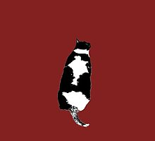 Tuxedo Cat in Wine by marientina