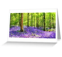 Among the bluebells Greeting Card