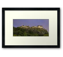 Edinburgh Castle at Night - Scotland Framed Print