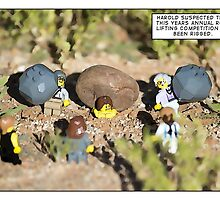 Rock Lifting Competition. by Bean Strangeways