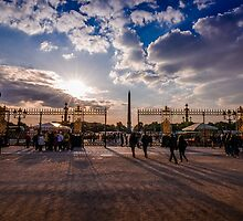 The gates of Tuileries by Jean Charles Mudet