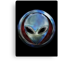 Metal Alien Head 03 Canvas Print