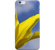 Yellow and Blue, Tulip and Sky iPhone Case/Skin