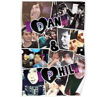Dan and Phil Collage Poster