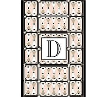 1920s Pink Champagne Gatsby Monogram letter D Photographic Print