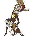 Levi, Hanji, and Erwin Tower - Attack On Titan by froggyk