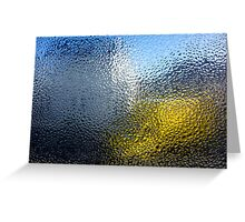 Condensation 03 - White House and Yellow Lorry Greeting Card