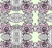 Rose Design Repeated Pattern by BRIllustrations