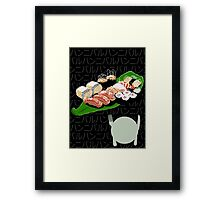 A Selection (white) Framed Print