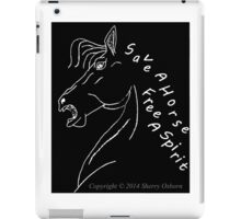 save a horse free a spirit pillow or tote black/purple iPad Case/Skin