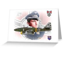 """Major Walter """"Nowi"""" Nowotny Greeting Card"""