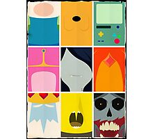 Minimal Adventure Time Portraits Photographic Print