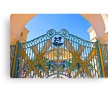 Walt Disney Studio Gates (Mickey Mouse) Canvas Print