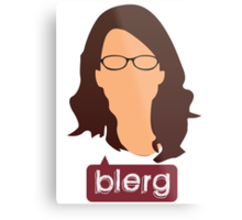 Liz Lemon - Blerg Metal Print