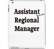Assistant to the Regional Manager iPad Case/Skin
